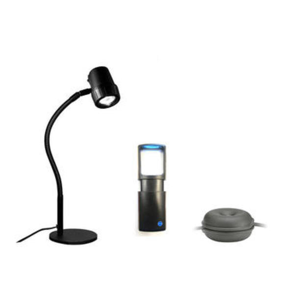 Accessory Pack: Compact Light, Magnifier and Cable Tidy.